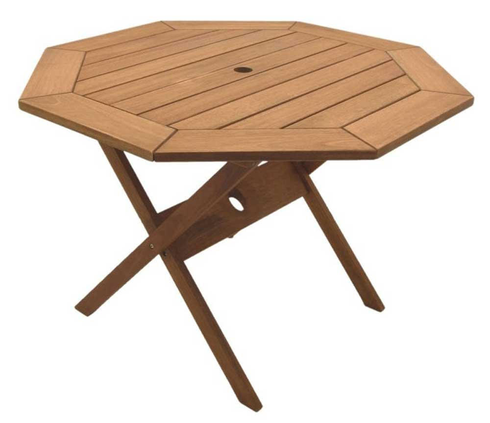 Octogonal Eucalyptus Wood Patio Folding Table
