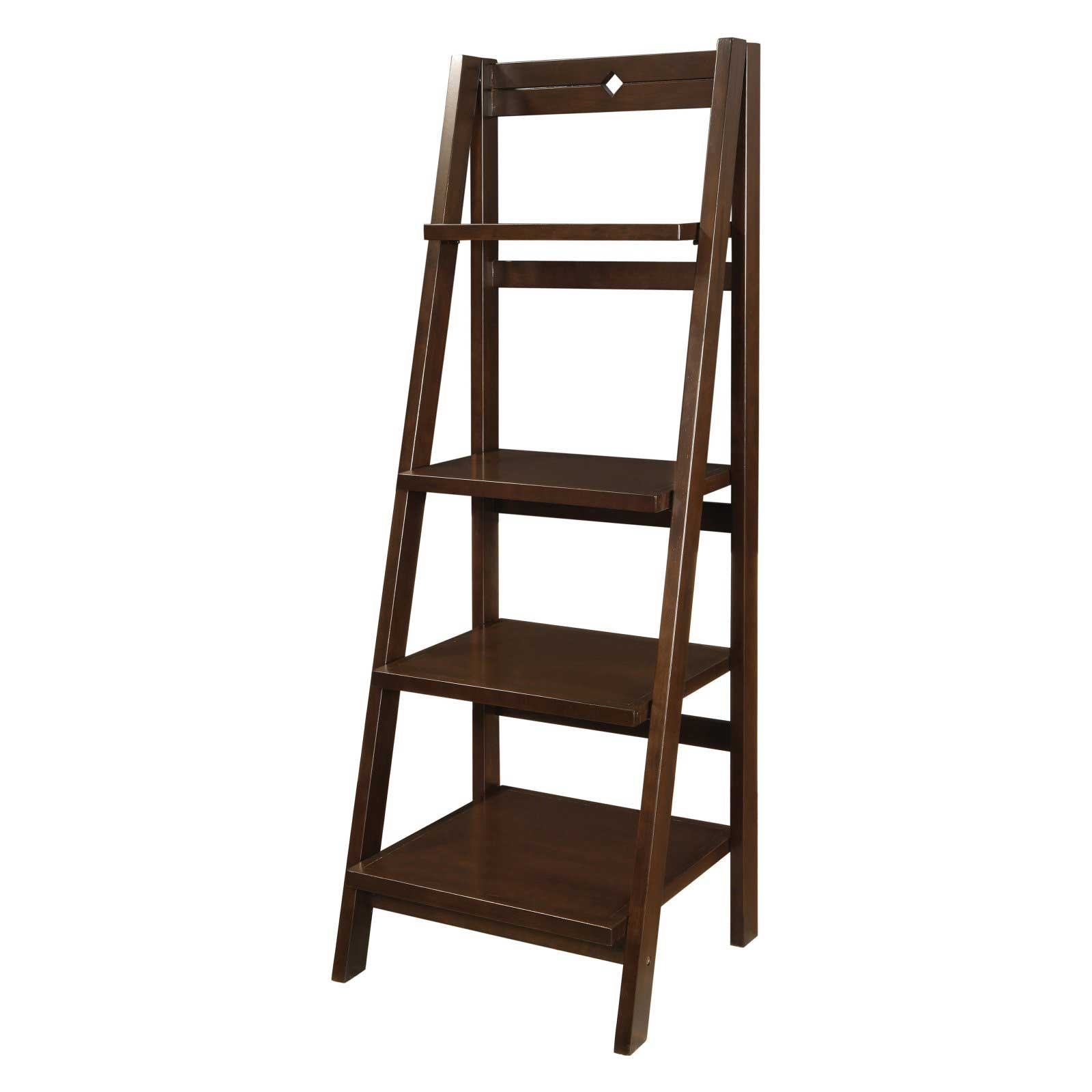 Office Star Espresso Mission Folding Bookcase