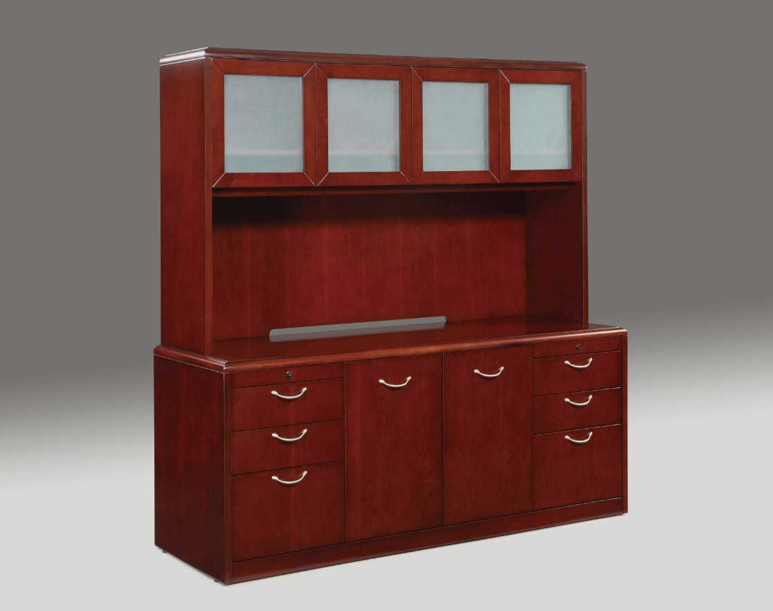 Phoenic Credenza with Hutch Desks