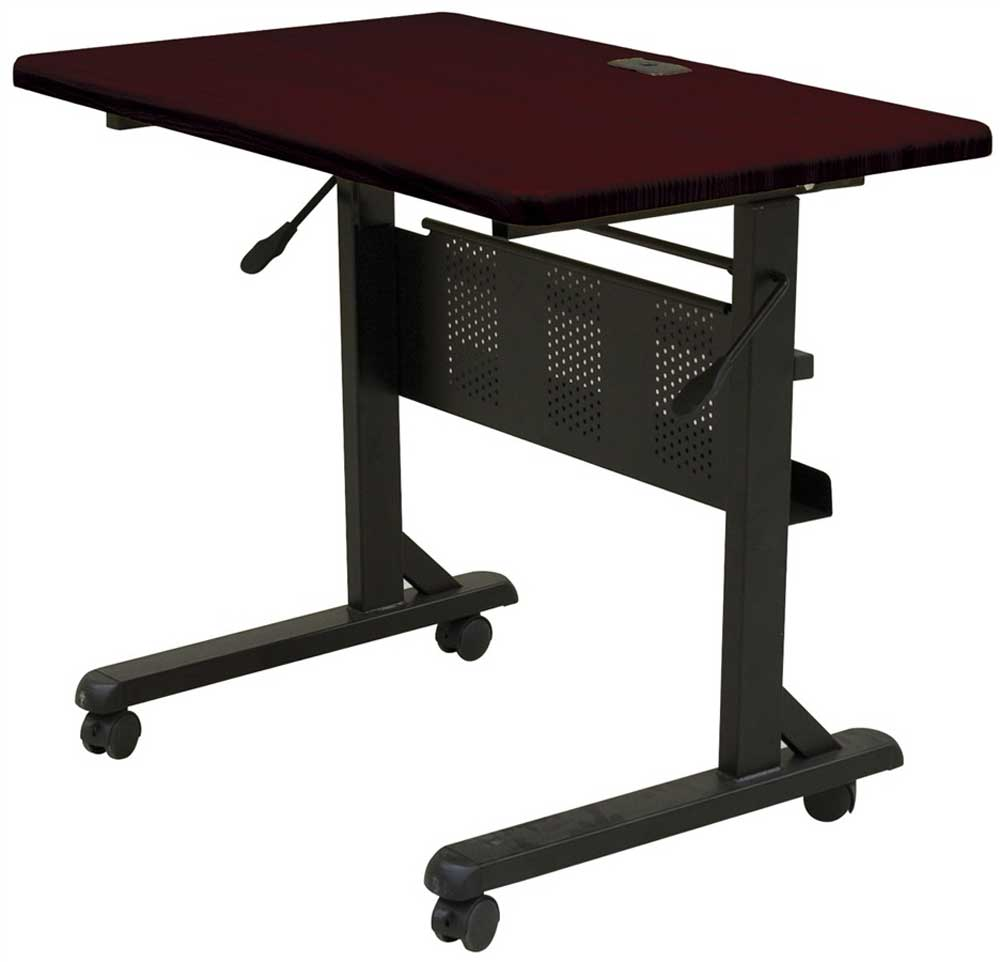 Portable Laminate Mahogany Office Computer Tables
