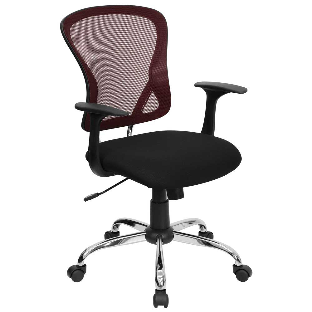 Red Mesh Computer Chairs for Executive Office