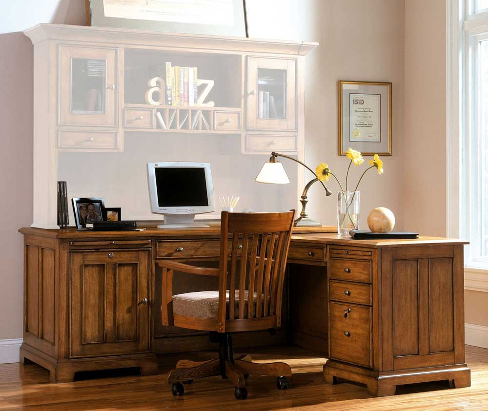 Riverside Woodlands L-Shaped Oak Office Computer Desk
