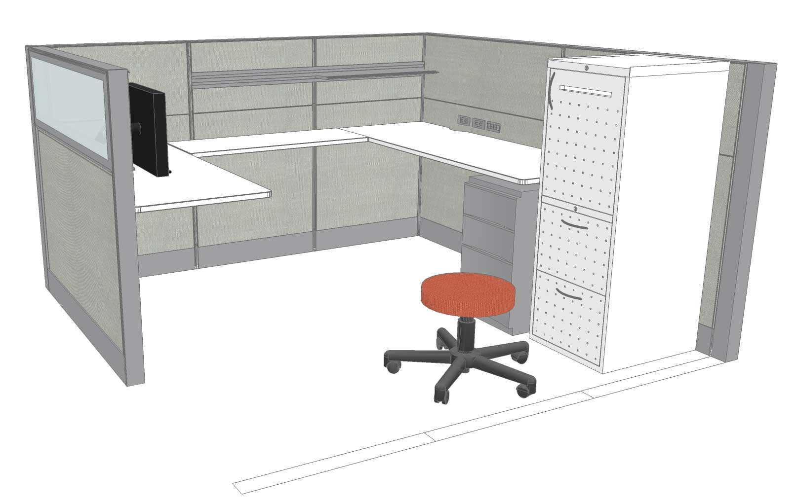 Sacramento Office Furniture Cubicle Design