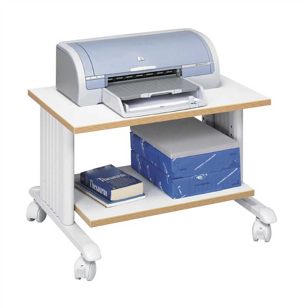 Safco MUV computer printer stand with 2 Tier Shelf