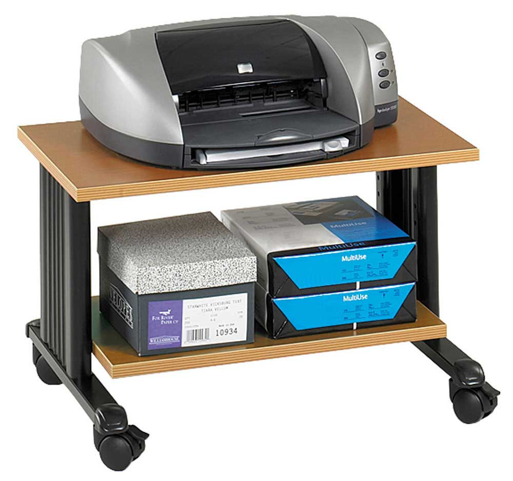 Safco Muv 2 Stage Adjustable Wooden Printer Stand