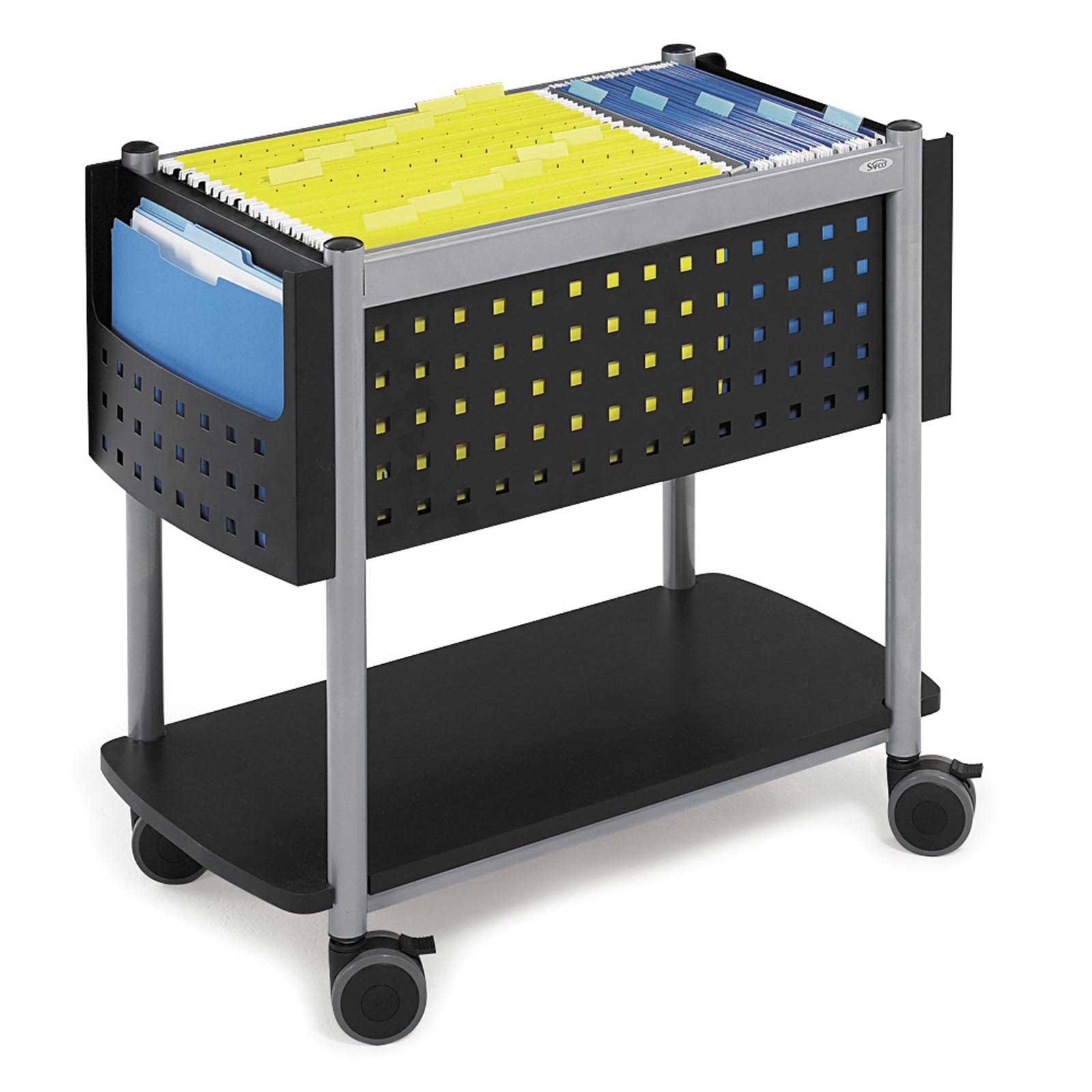 Scoot Open Black Mobile Filing Cabinets Solution