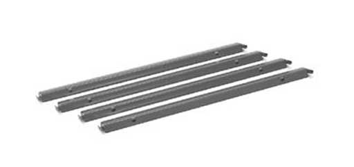 Single cross HON lateral file cabinet rails
