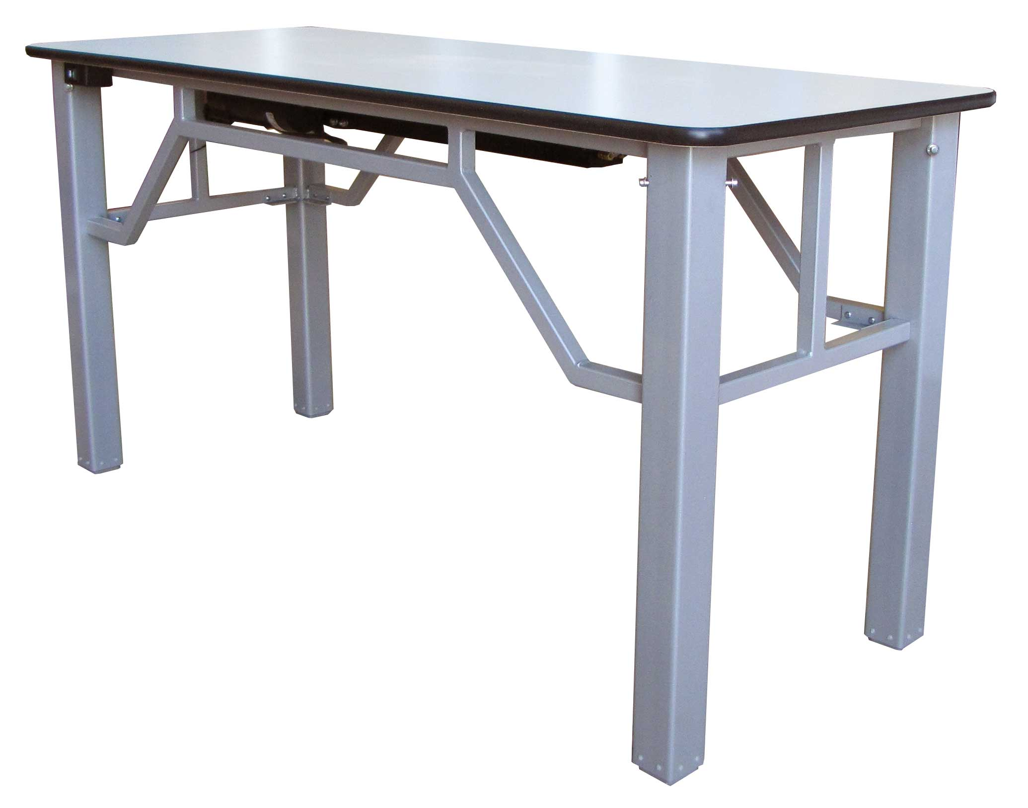 Strong adjustable desk with steel frame