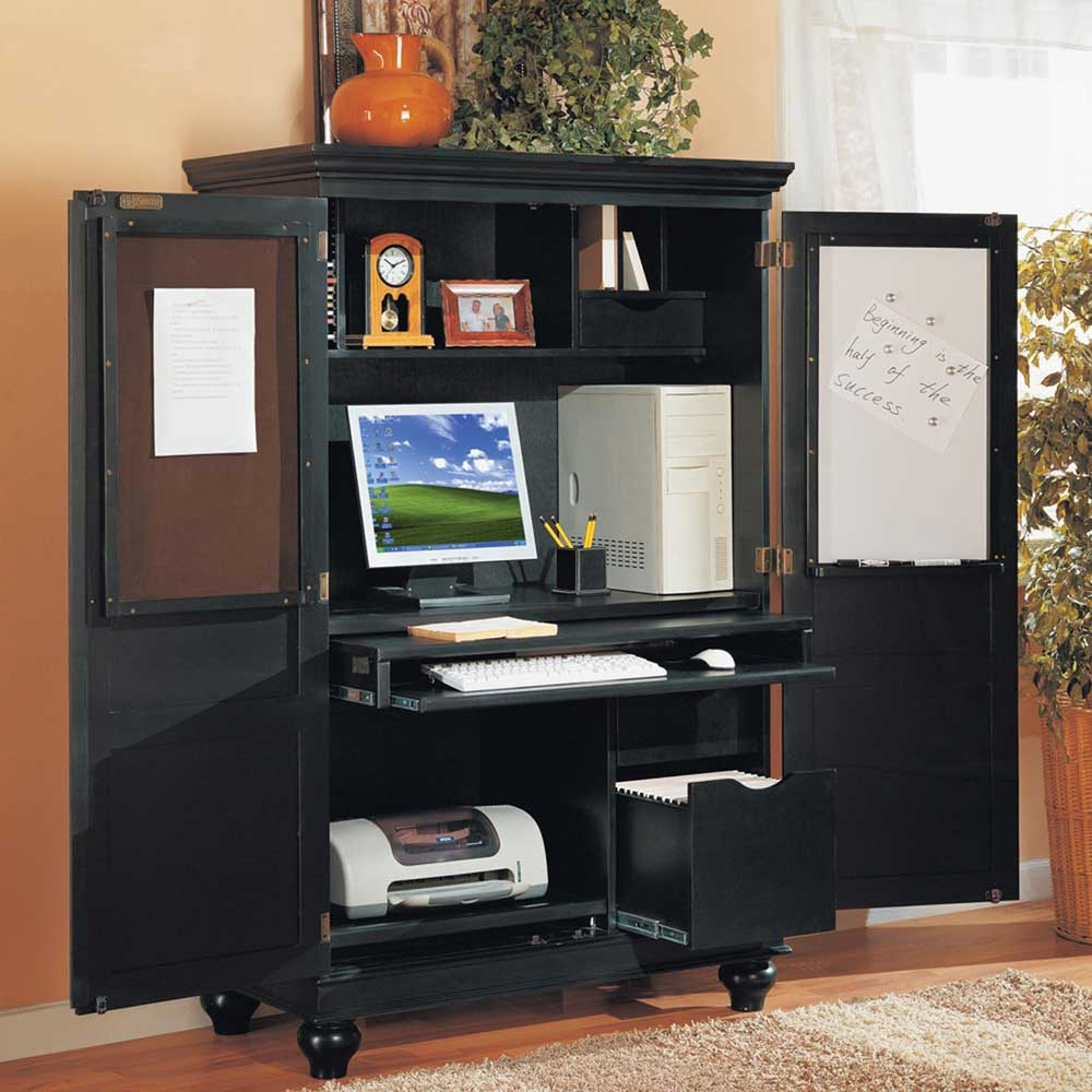 Sunrise Black Personal Computer Workstation