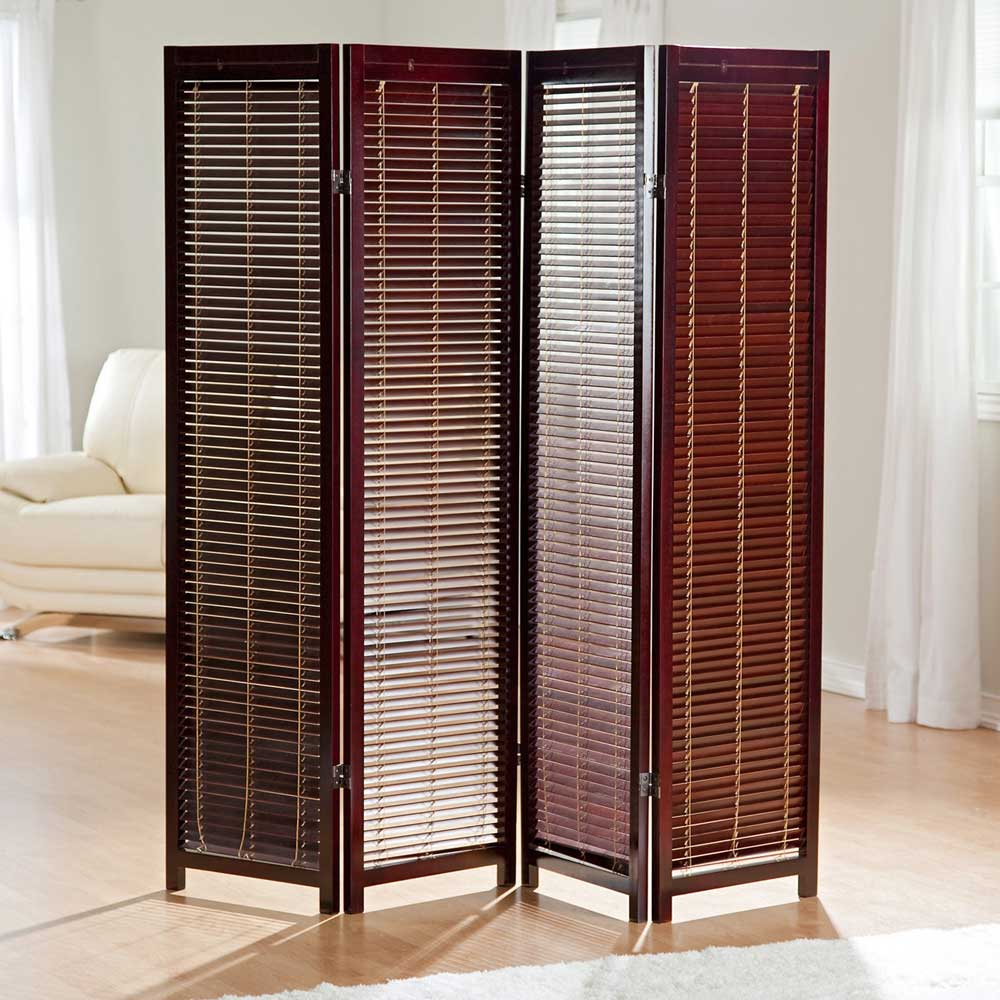 Tranquility Shutter Screen Wooden Rosewood Interior Room Dividers