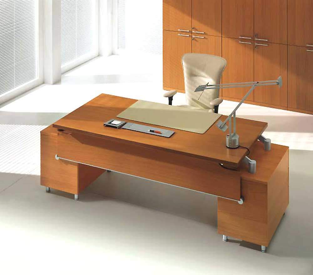 Uffix Wooden Executive Office Table with Italian Design
