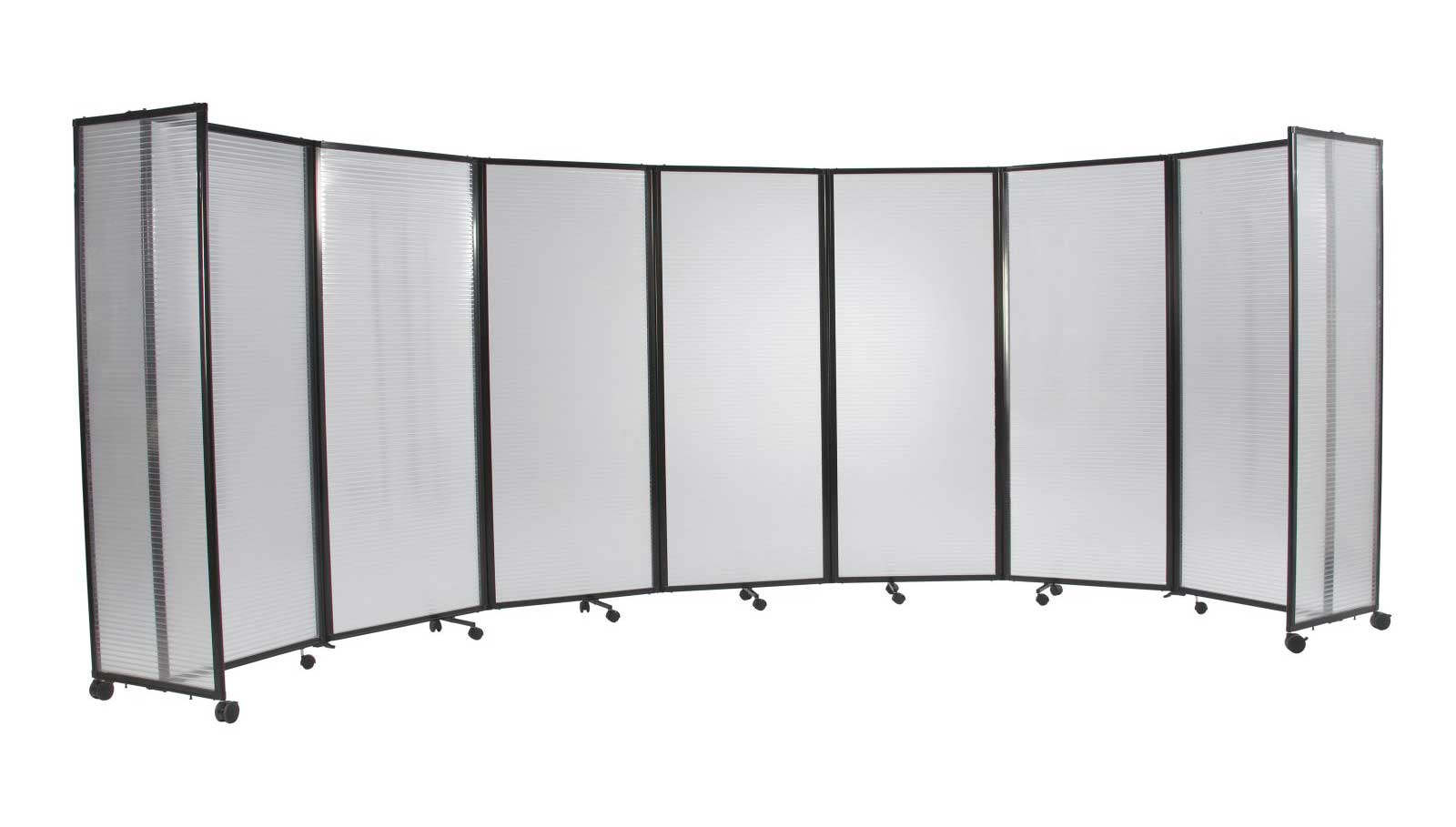 Versare Wide Plastic Folding Mobile Room Dividers
