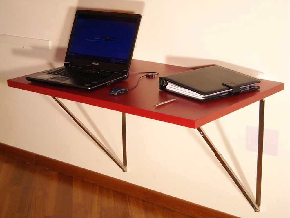 Wall laptop foldable desk
