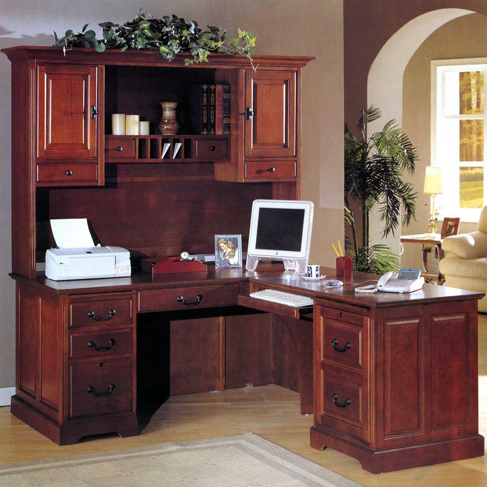 Whalen Executive L-Shaped Desk New Hampshire Style