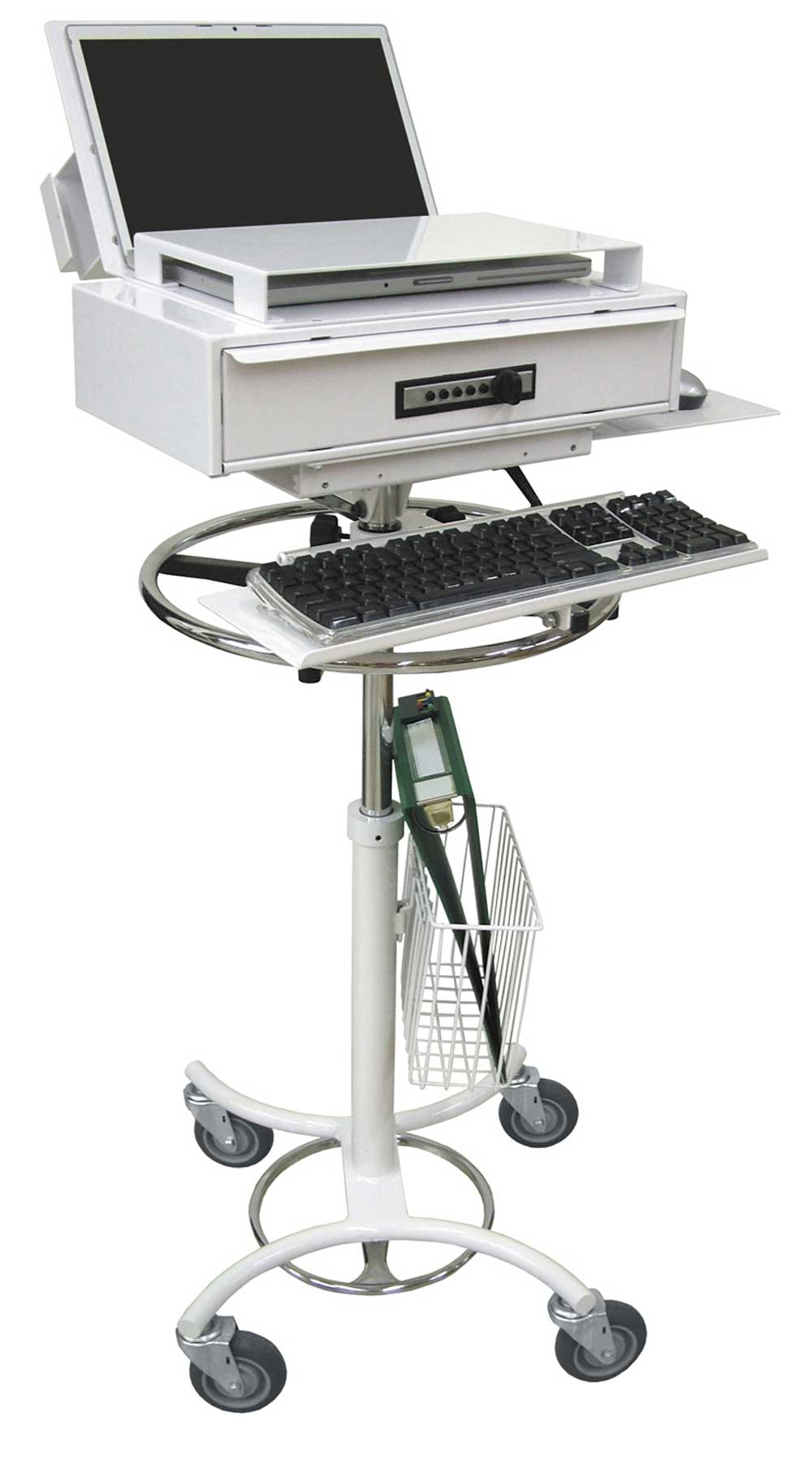 White Medical Computer Stands