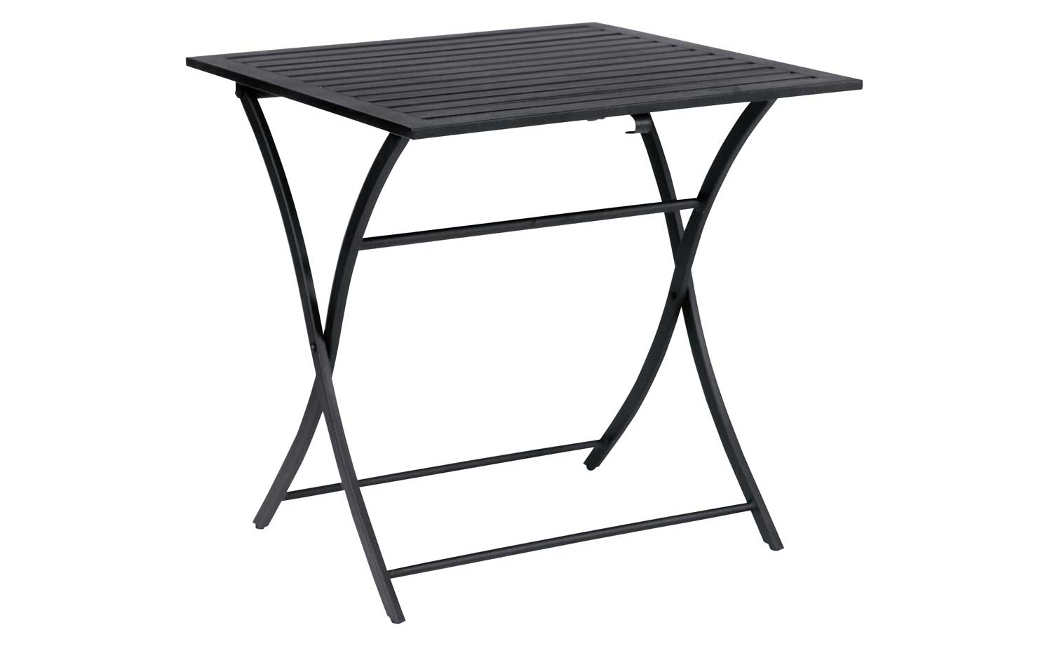 Woodard Avery Black Wrought Iron Square Folding Tables