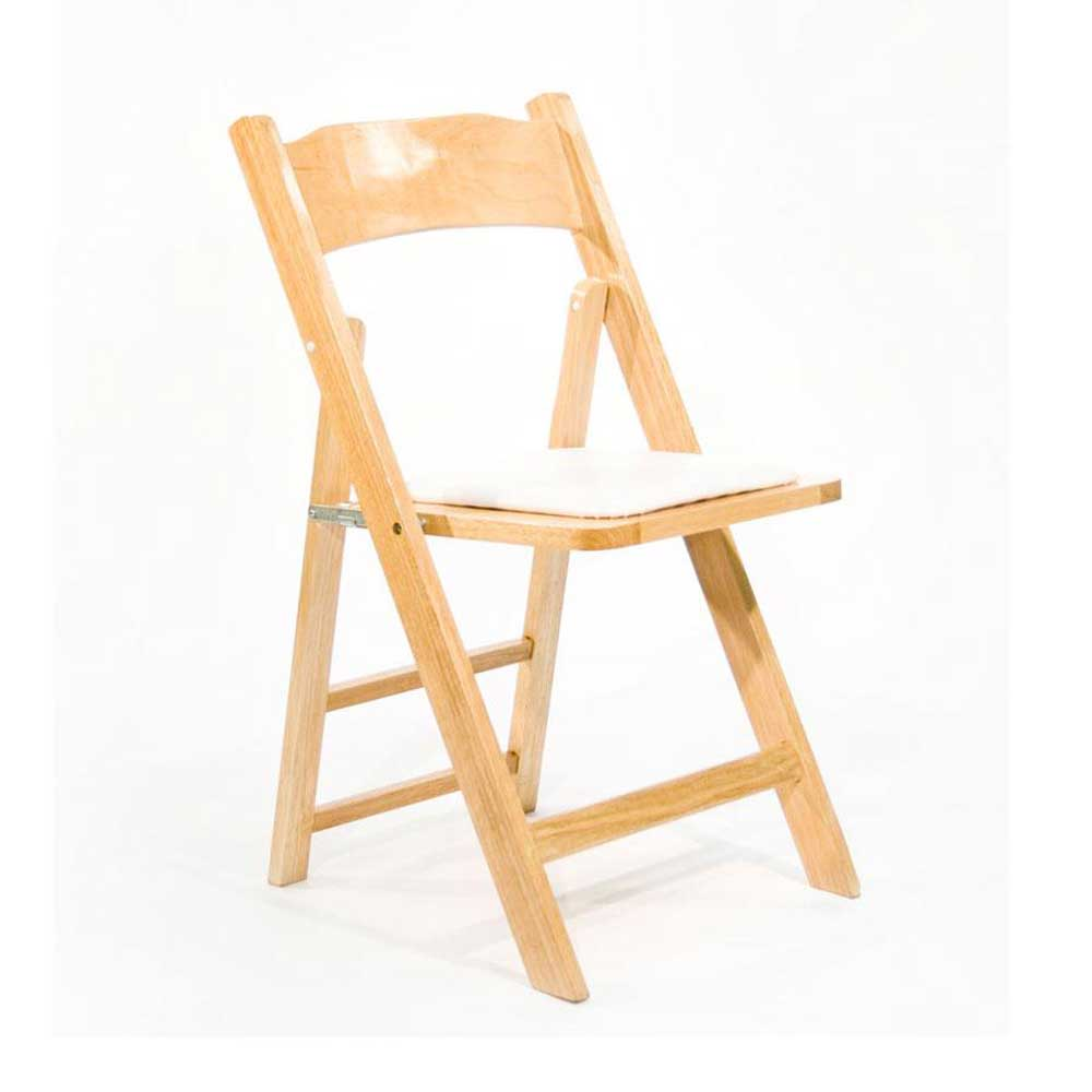 Wooden portable chair in natural finish