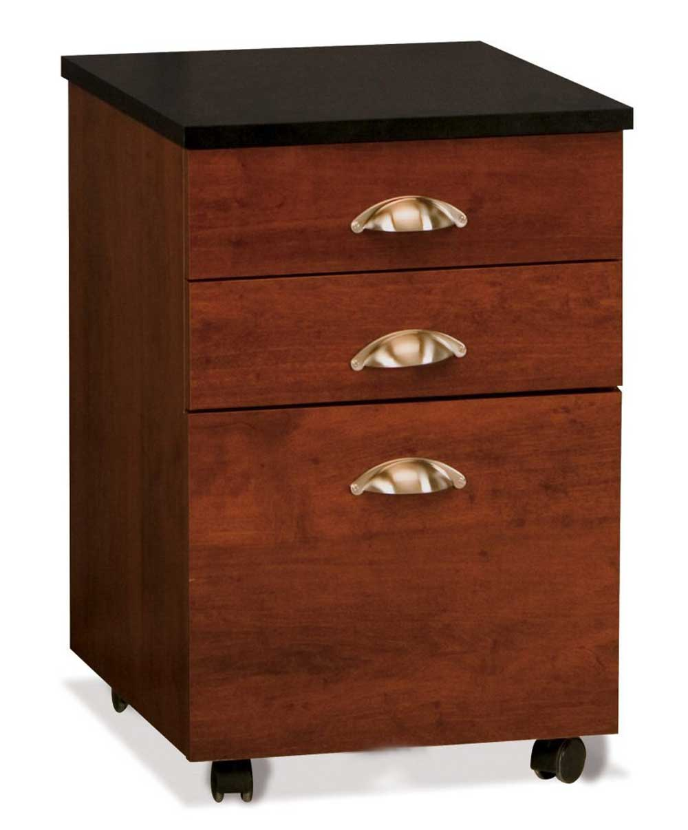 Yeskey Three Drawers Wooden Mobile File Cabinets