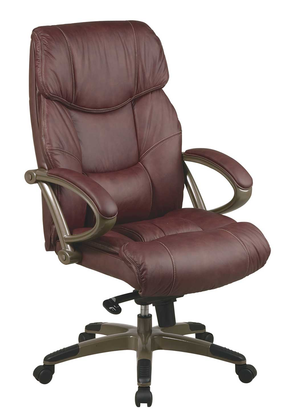 adjustable brown leather Comfortable desk chairs
