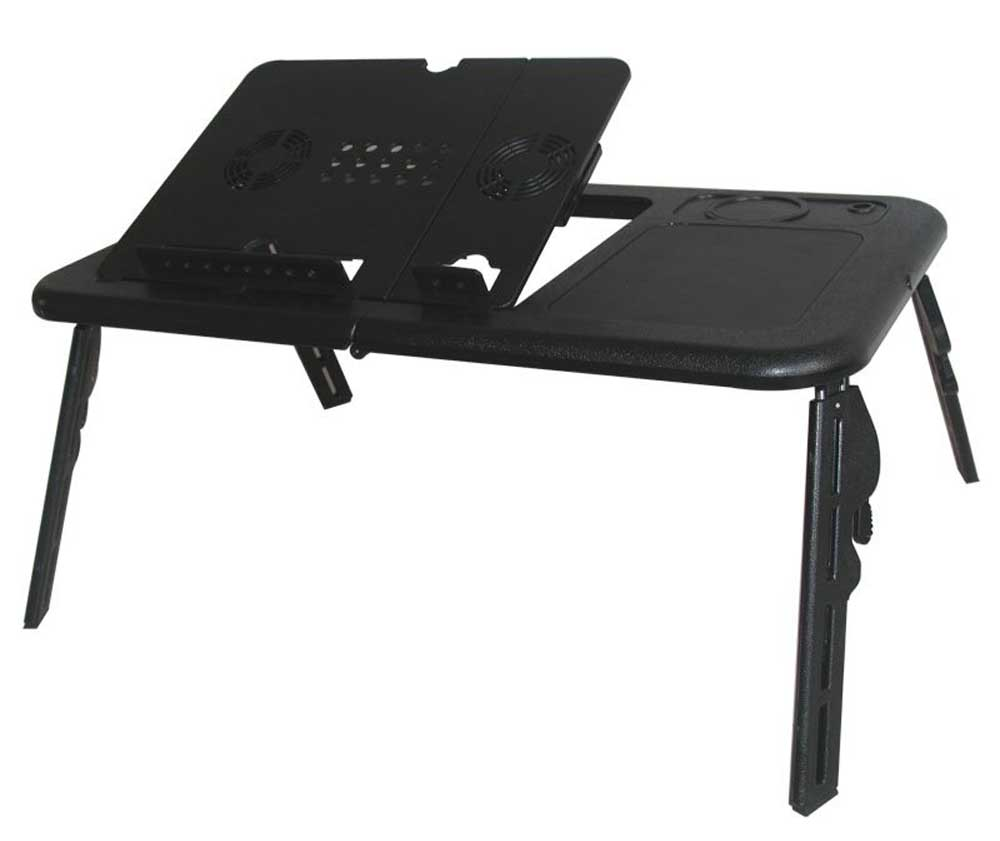 black folding laptop computer stands
