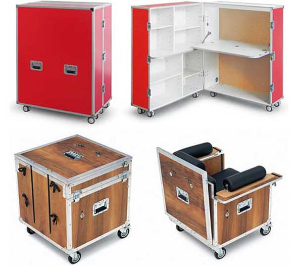 compact mobile office desk and storage