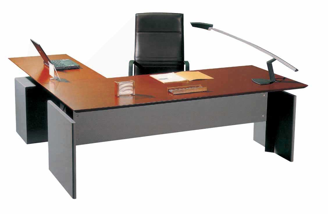 executive L-shaped computer office desks design