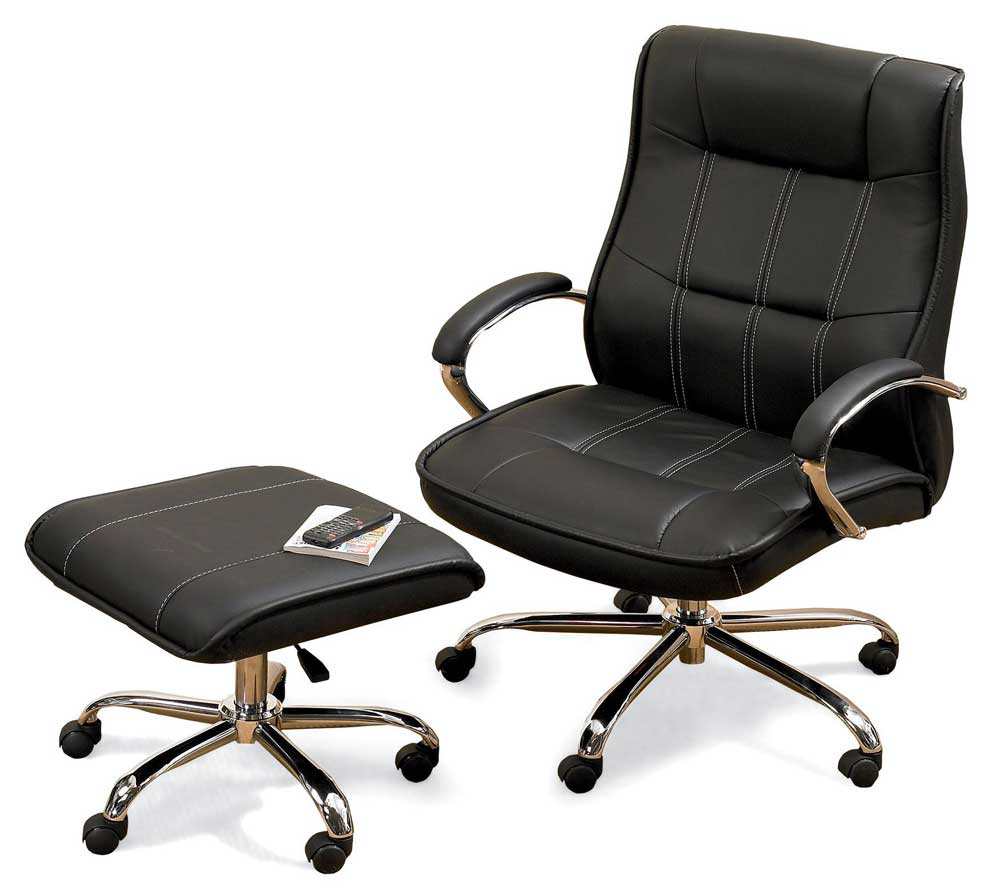 extra large office chairs in black faux leather