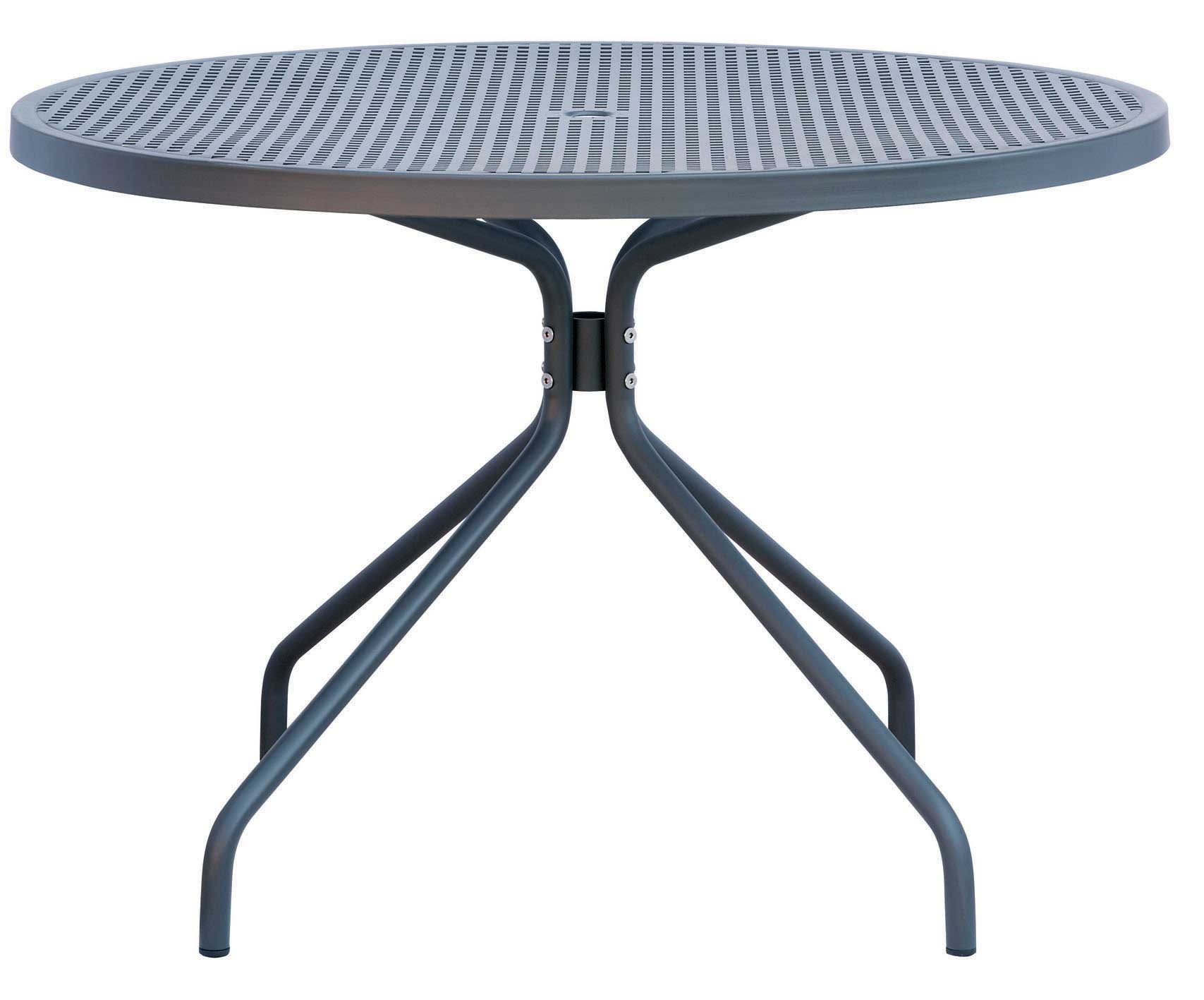 folding metal table with four legs