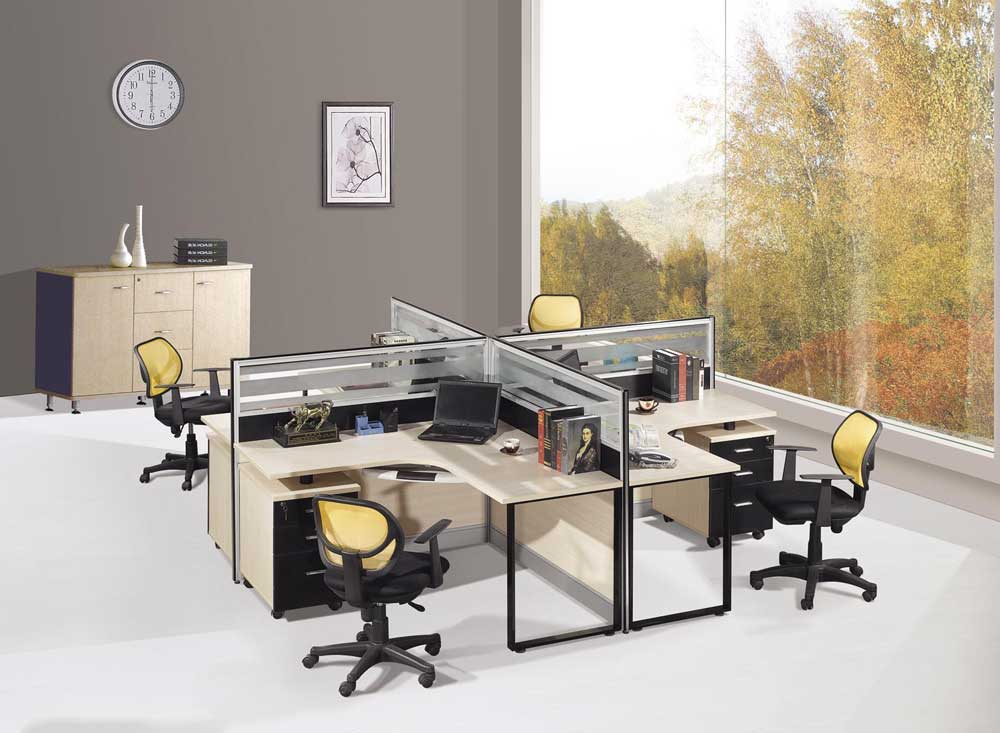 four section modular office partitions