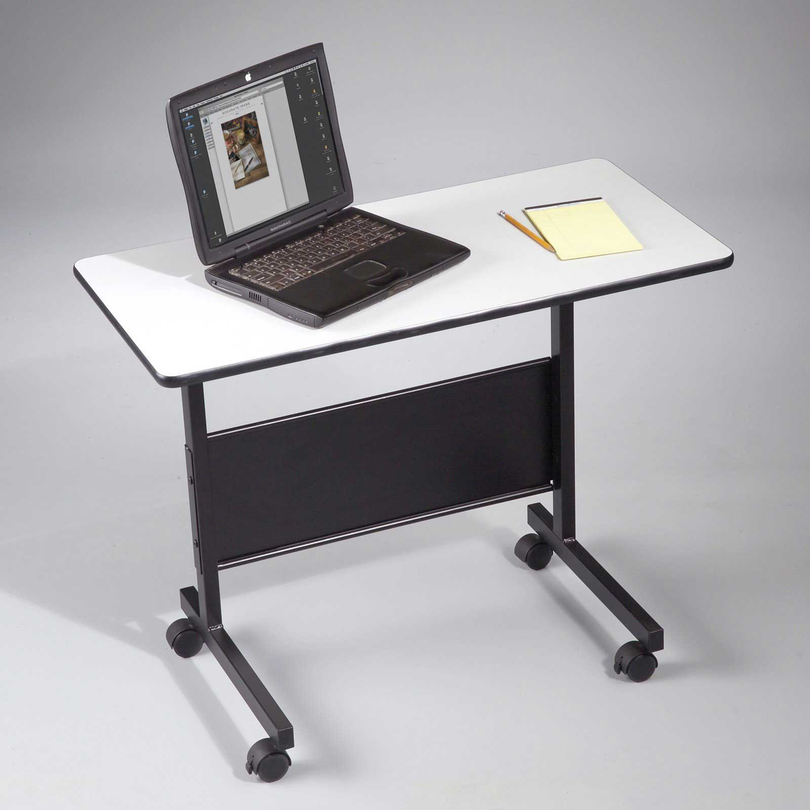 height adjustable table for laptop computer