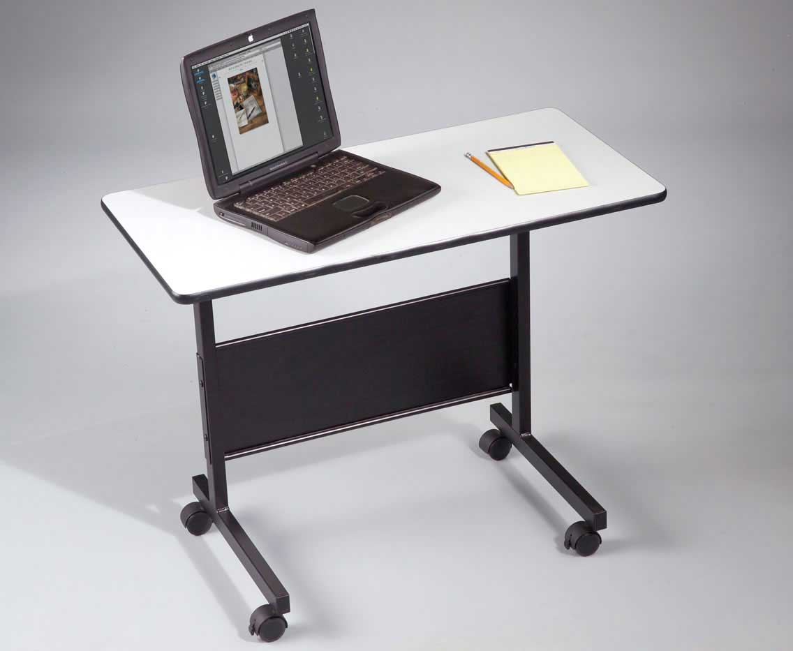 home office adjustable height laptop table