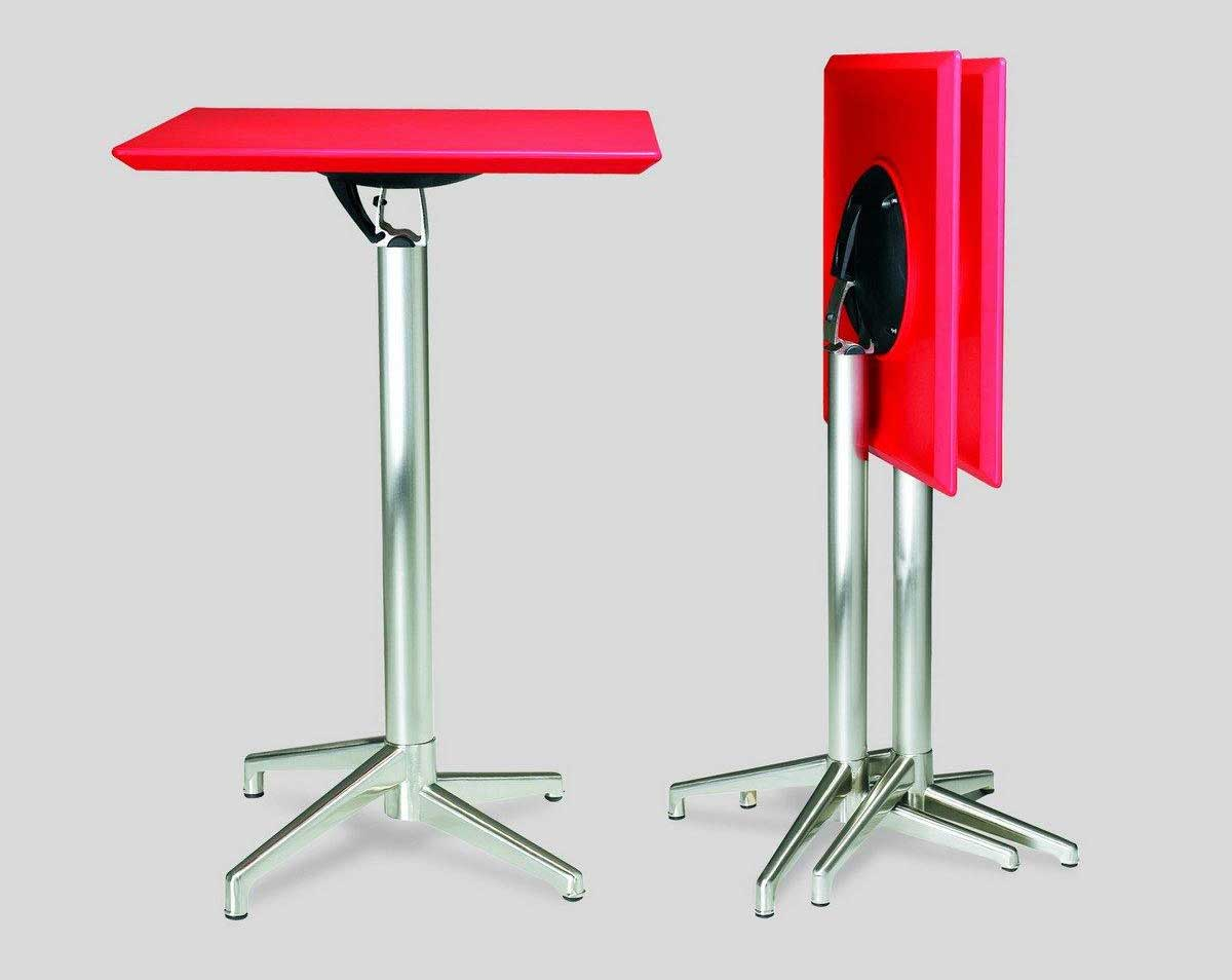 home office red metal bar desk