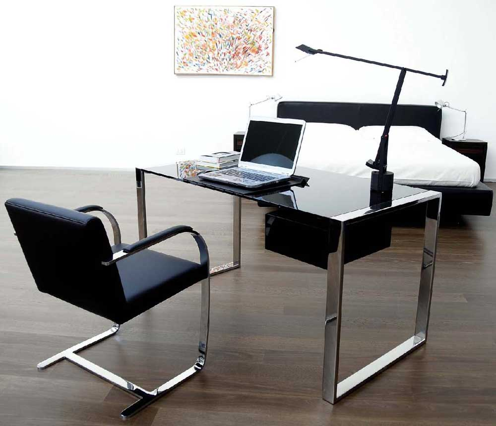 executive black grain wood desk for office
