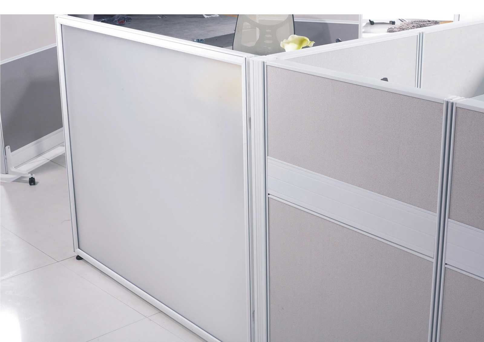 modular used cubicle walls in white