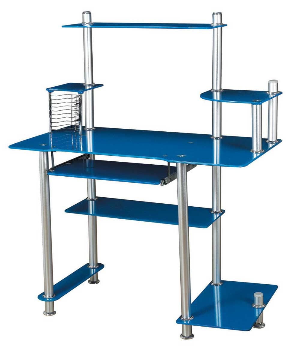 multi function blue computer table