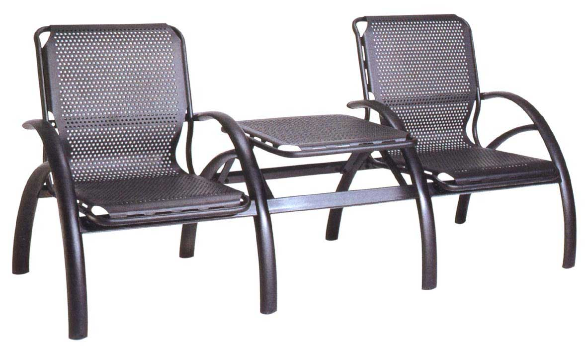 office waiting room chair and desk set