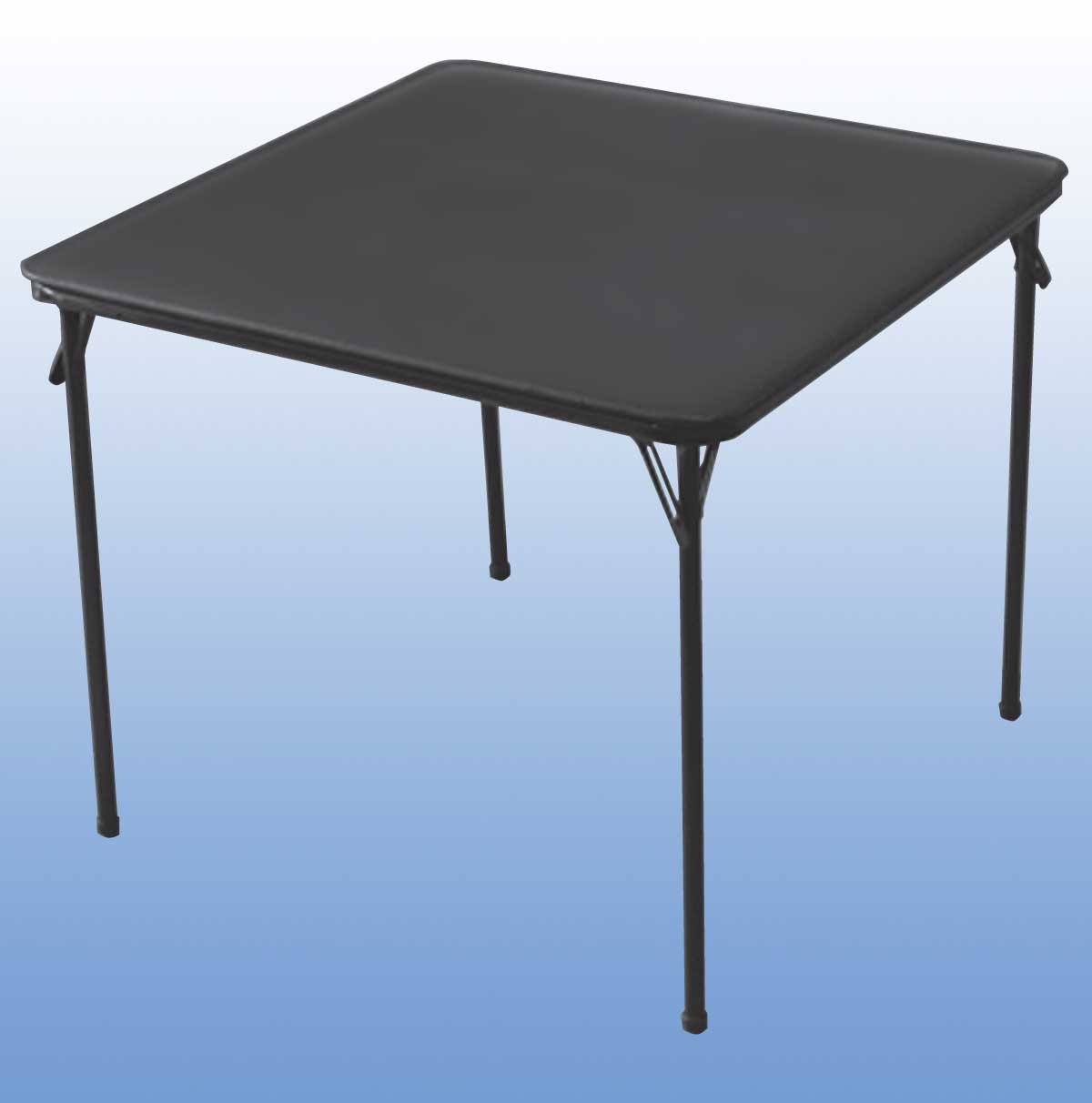 portable deep black rectangle iron folding table
