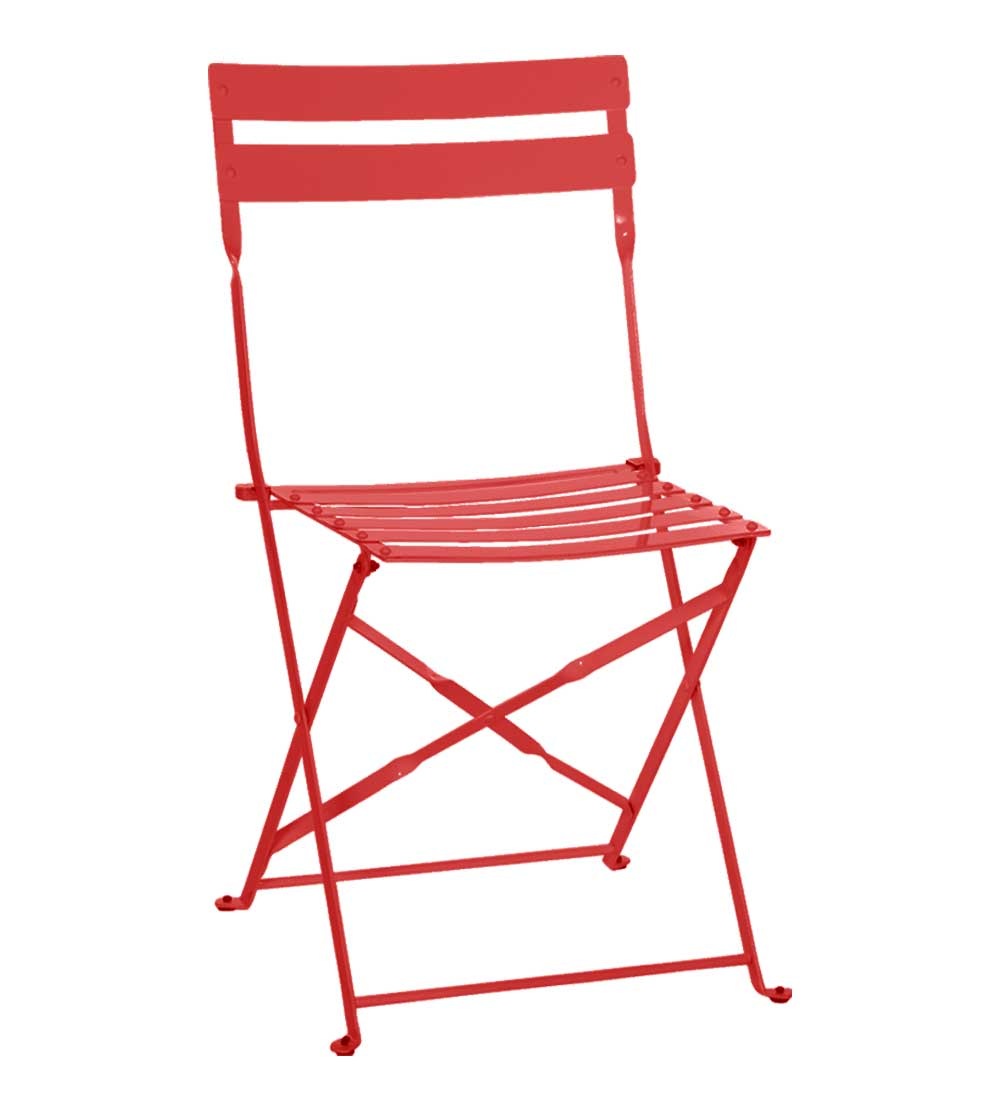 red portable metal home office chair