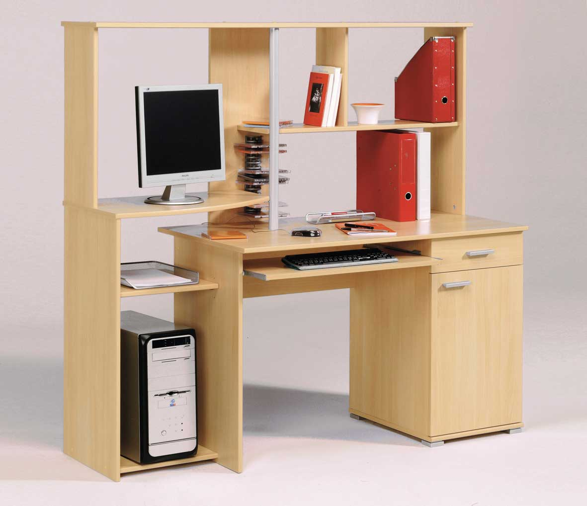 solid cherry wood computer office desks with hutch