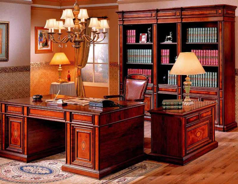 solid wood elegant office furniture workstation