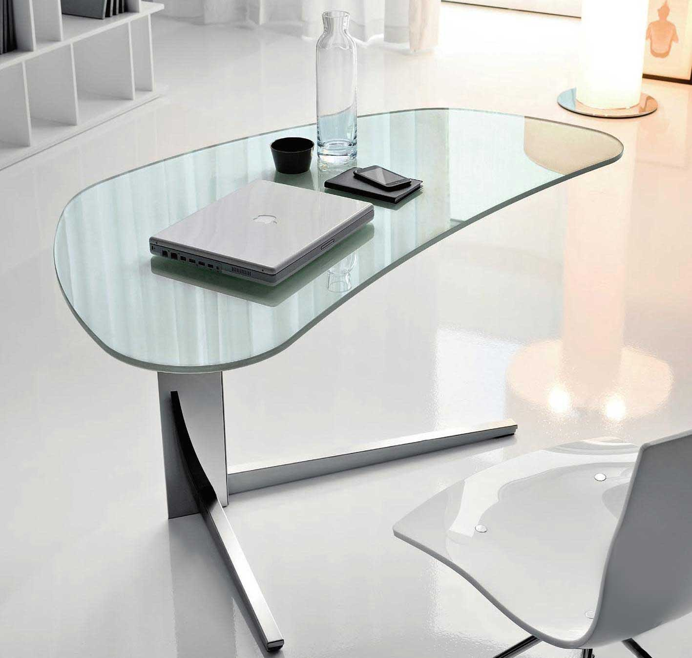 unique clear modern glass desks