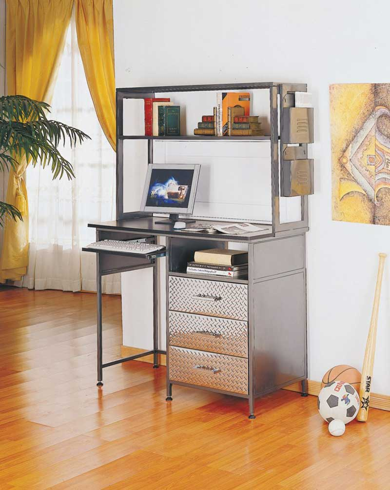 unique computer desk with hutch and drawer