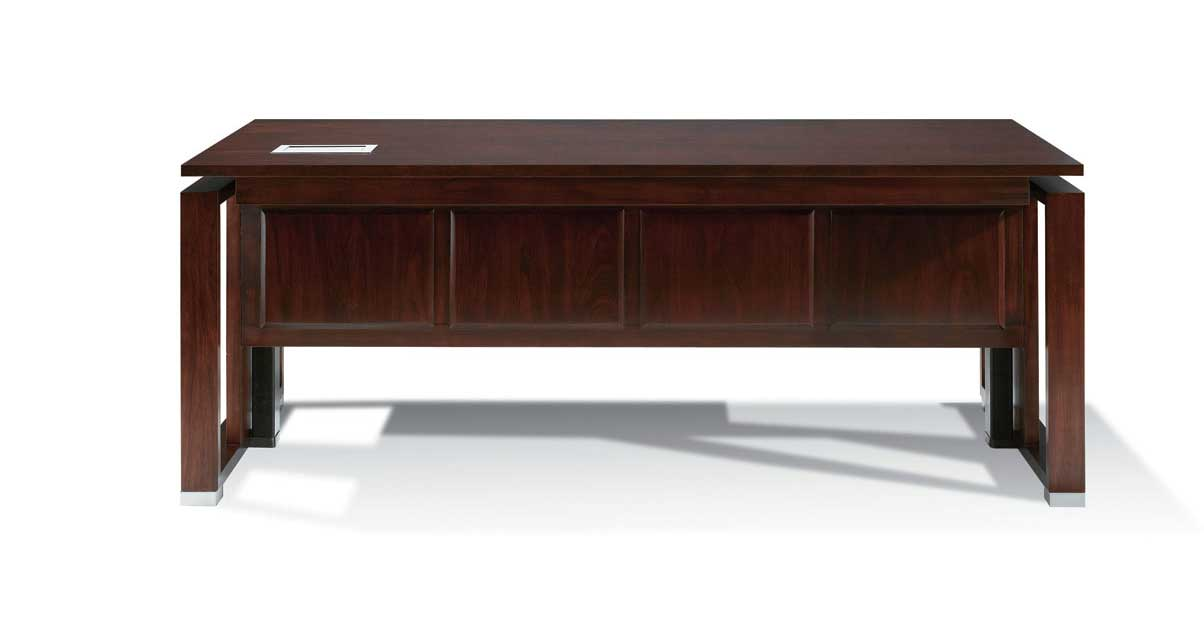 wooden contemporary executive desks with modesty panel