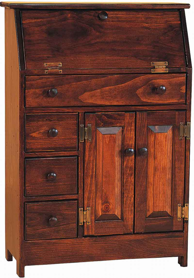 Amish Pine Wooden Office Secretary Desk