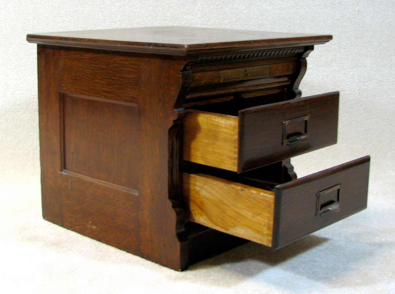 Antique two drawers solid wood oak file cabinets
