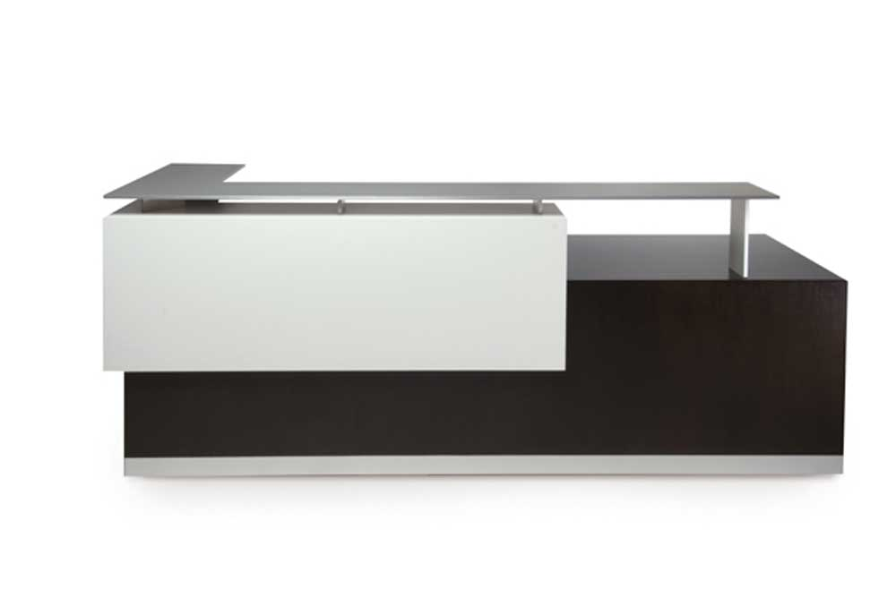 Ares Contemporary Semi circular Reception Desk