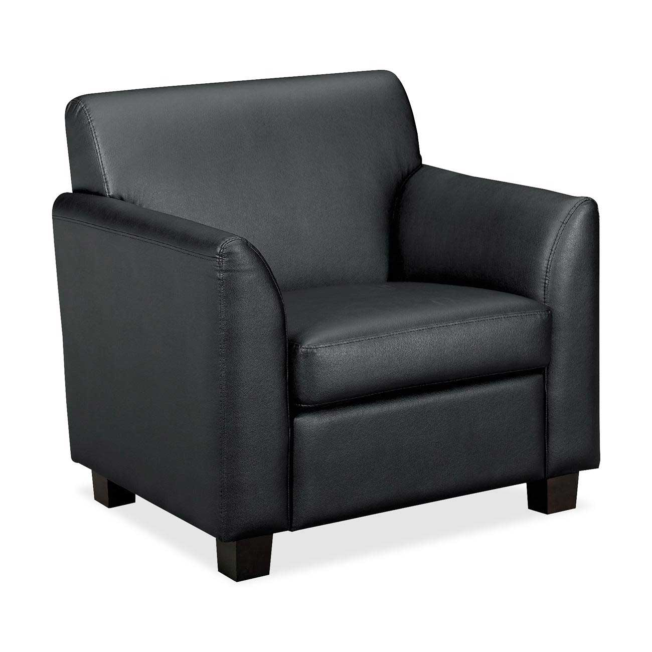Basyx office furniture black leather chairs