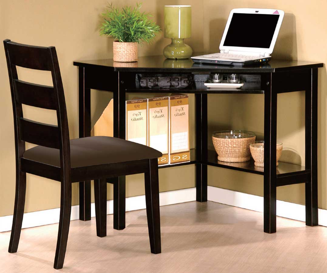 Benton black home office computer desks and chairs