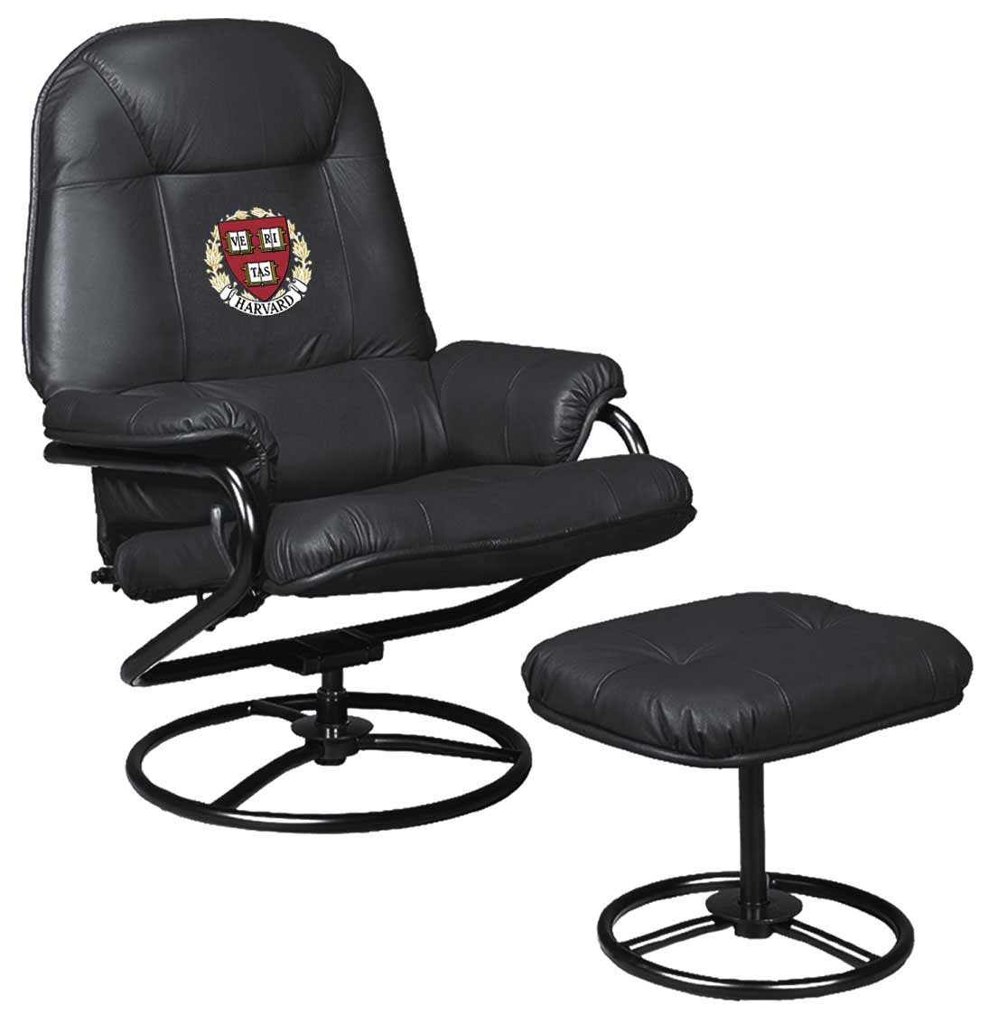 Black Leather Ottoman Chair in Tucson office furniture