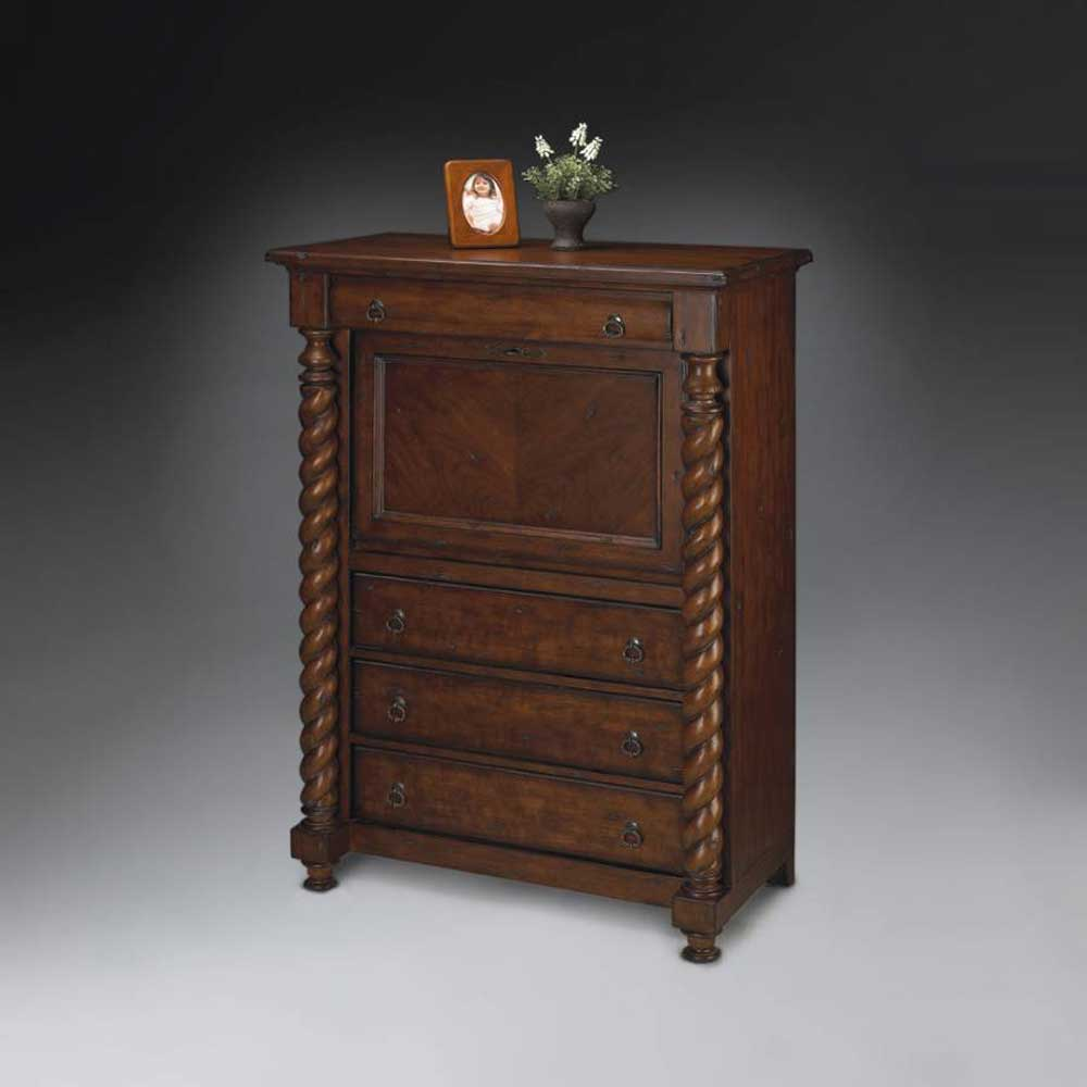 Butler Old Classic Secretary Desk with Three Drawers